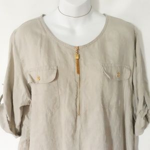 Ellen Tracy Tops - ELLEN TRACY  tunic blouse size XL